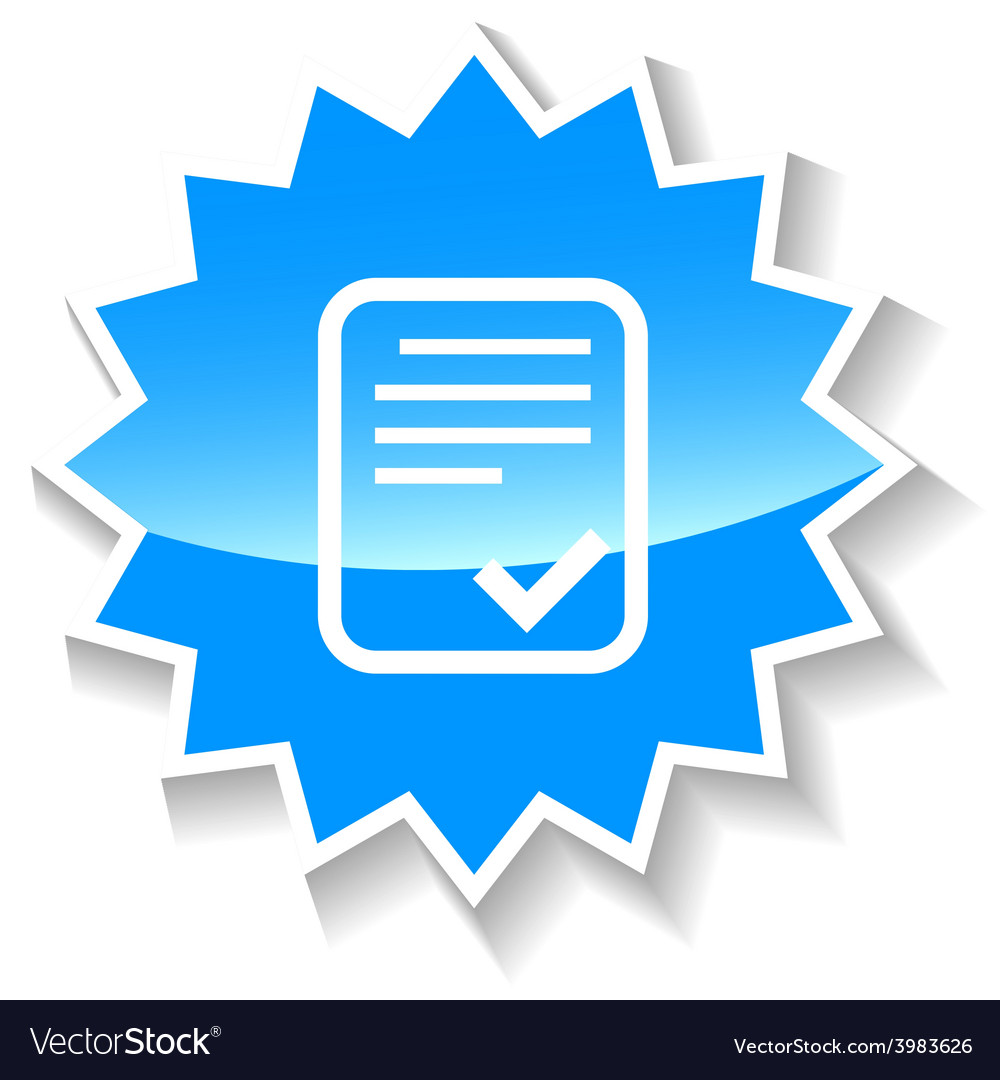 Document blue icon vector | Price: 1 Credit (USD $1)