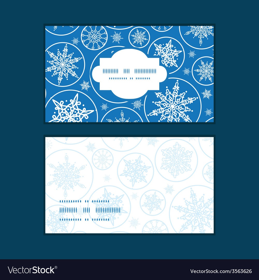 Falling snowflakes horizontal frame pattern vector | Price: 1 Credit (USD $1)