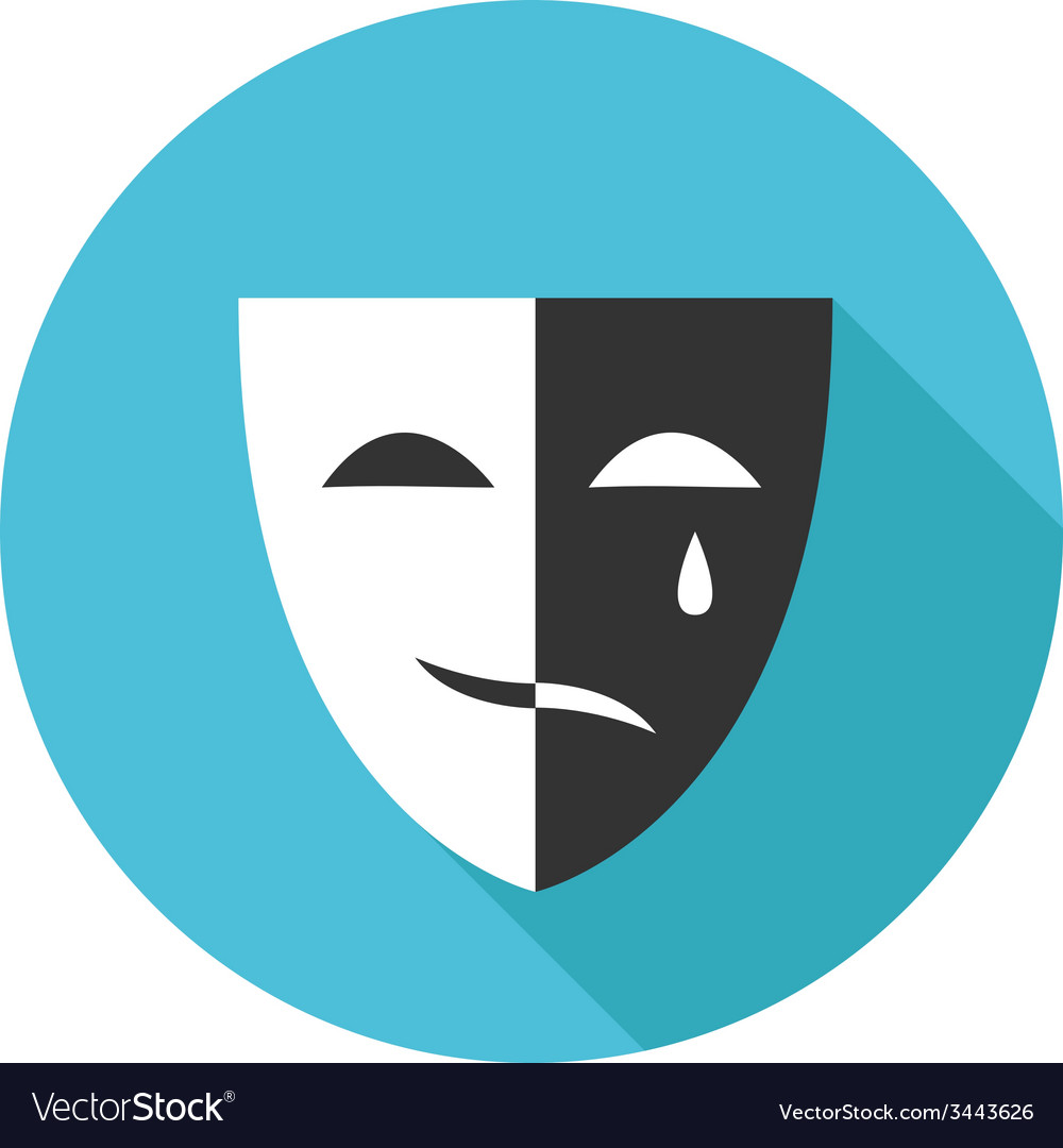 Flat modern round mask icon vector   Price: 1 Credit (USD $1)