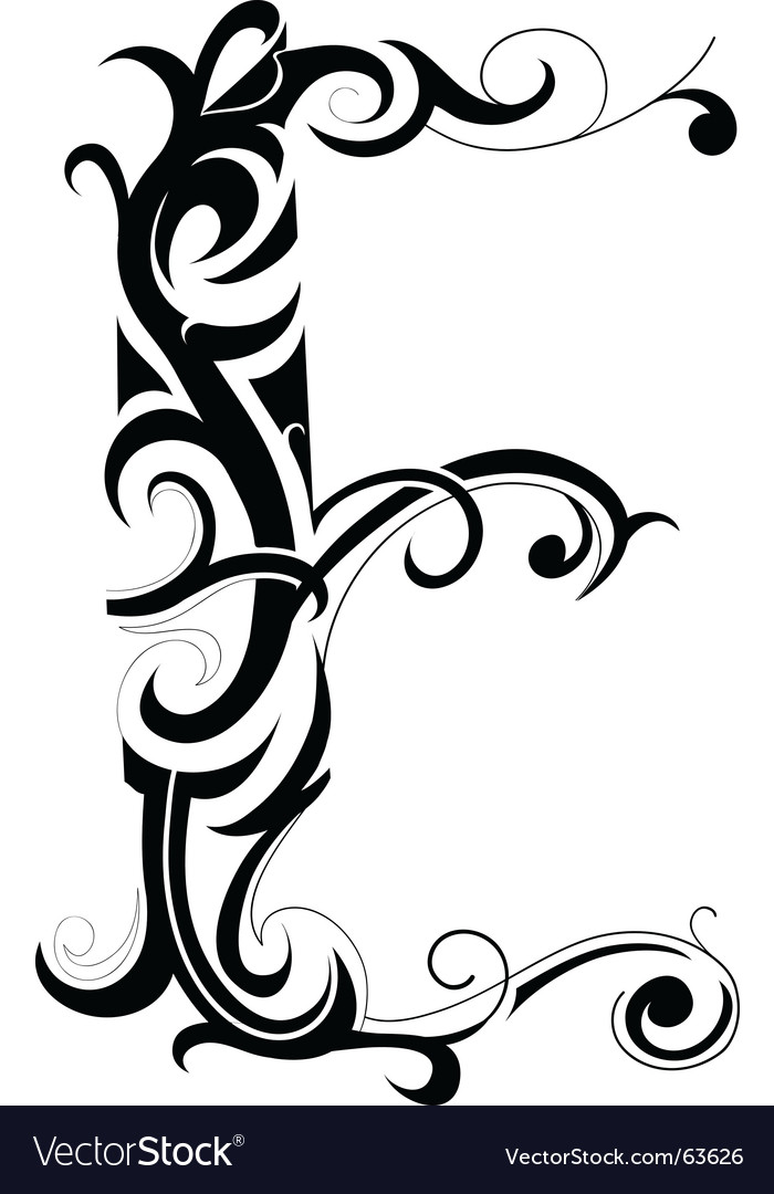 Floral type vector | Price: 1 Credit (USD $1)