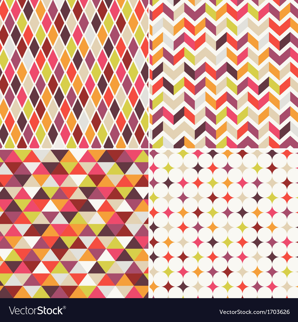 Geometric orange seamless pattern vector