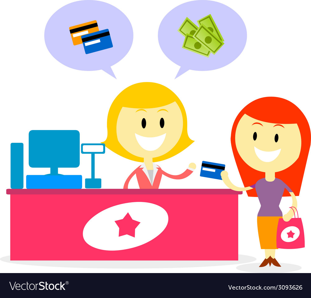 Pay with cash or credit card vector | Price: 1 Credit (USD $1)