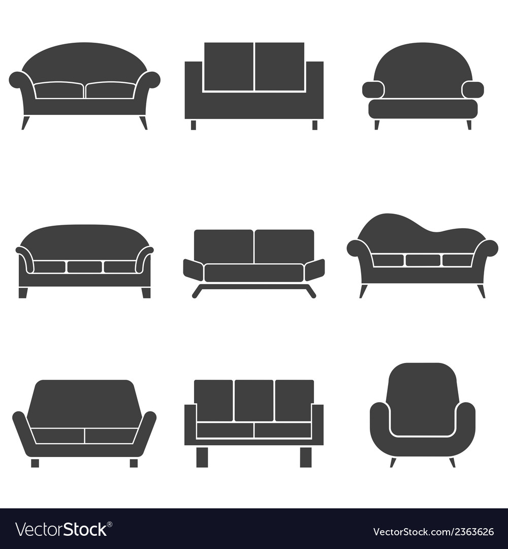 Sofa icons vector | Price: 1 Credit (USD $1)