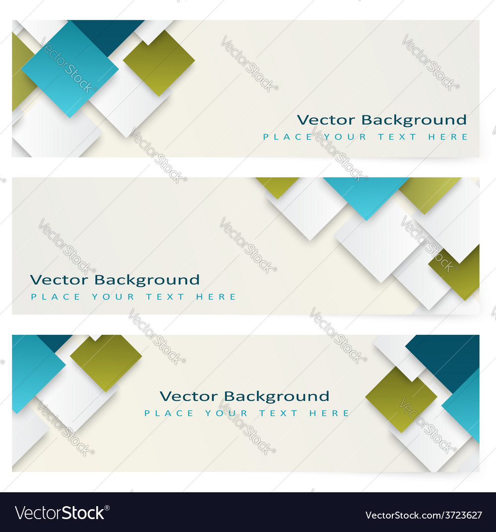 Abstract template horizontal banner vector | Price: 1 Credit (USD $1)