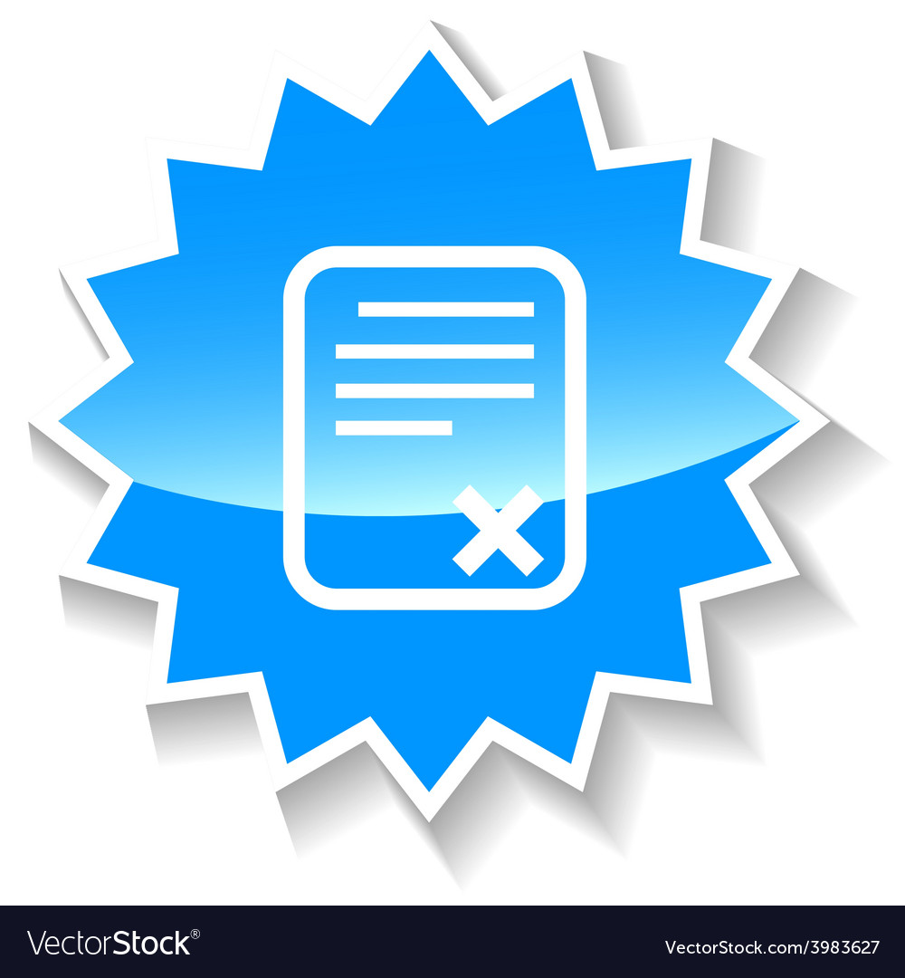 Bad document blue icon vector | Price: 1 Credit (USD $1)