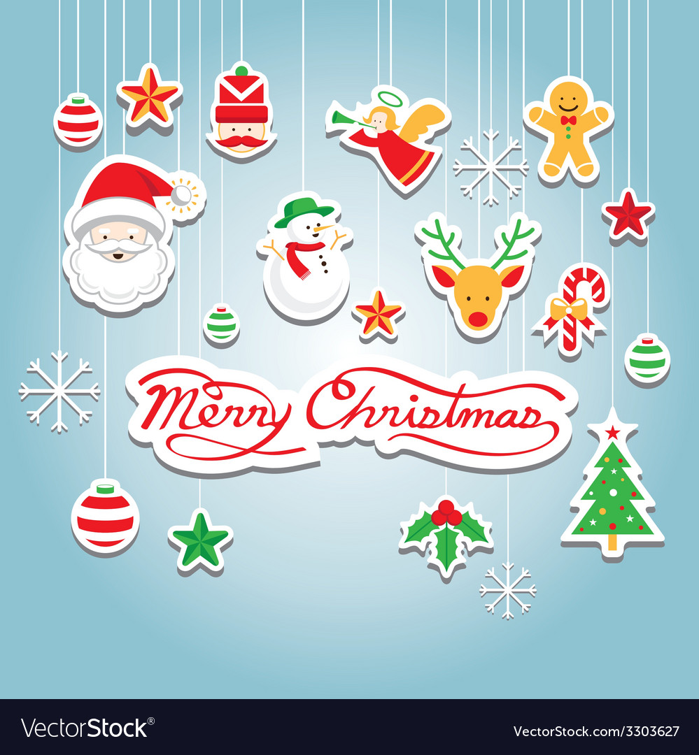 Christmas object decoration vector | Price: 1 Credit (USD $1)