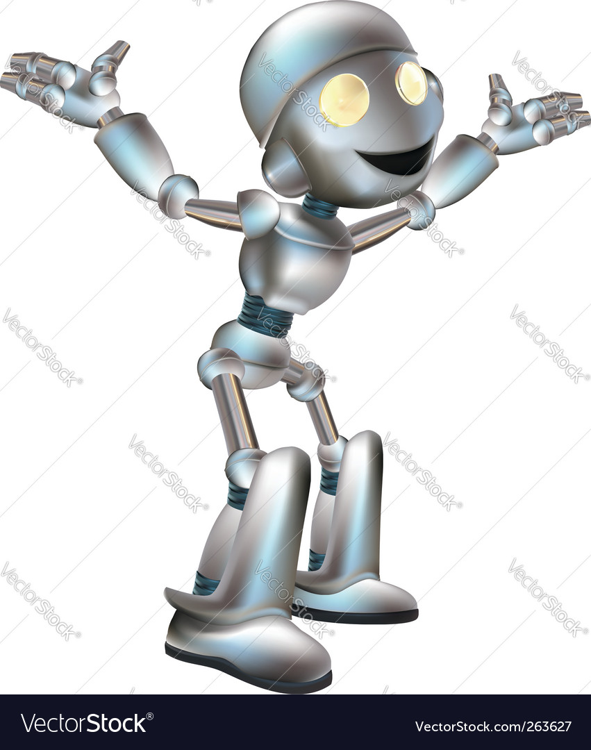 Cute robot vector | Price: 1 Credit (USD $1)