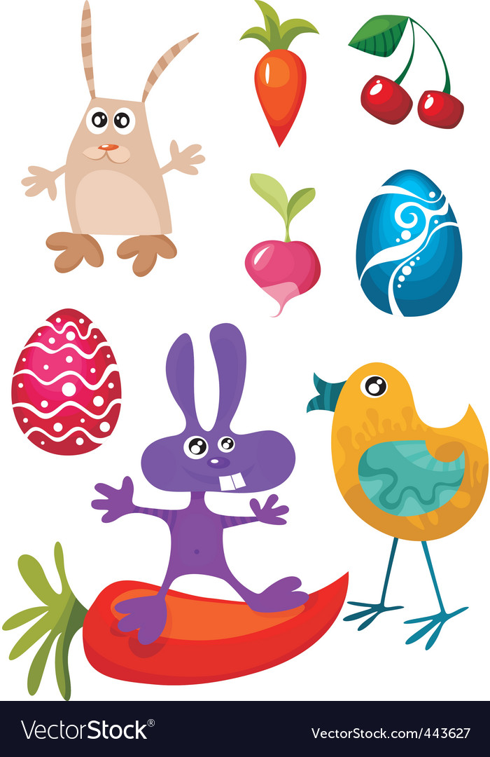 Easter characters vector | Price: 1 Credit (USD $1)