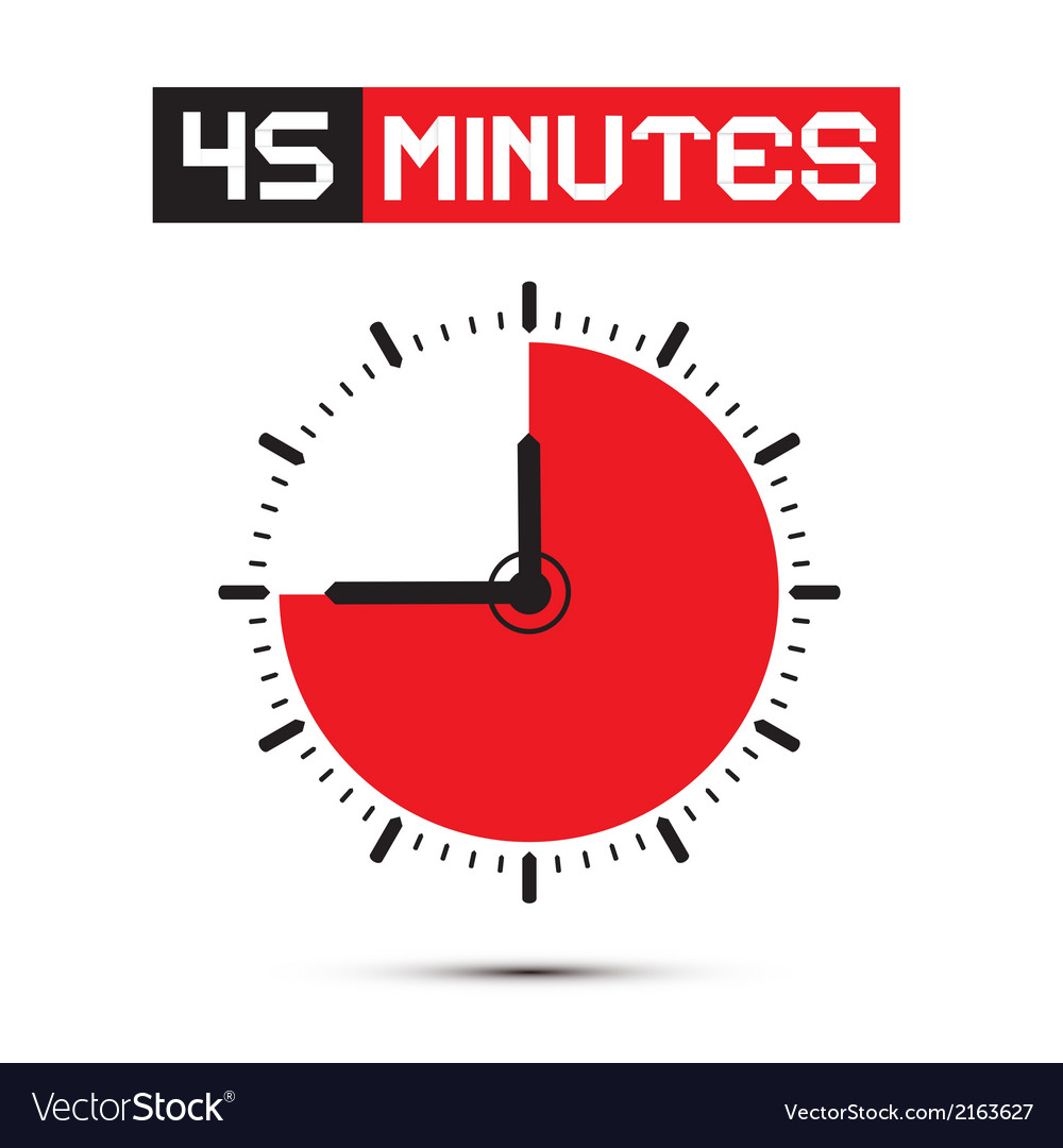 Forty five minutes stop watch - clock vector | Price: 1 Credit (USD $1)