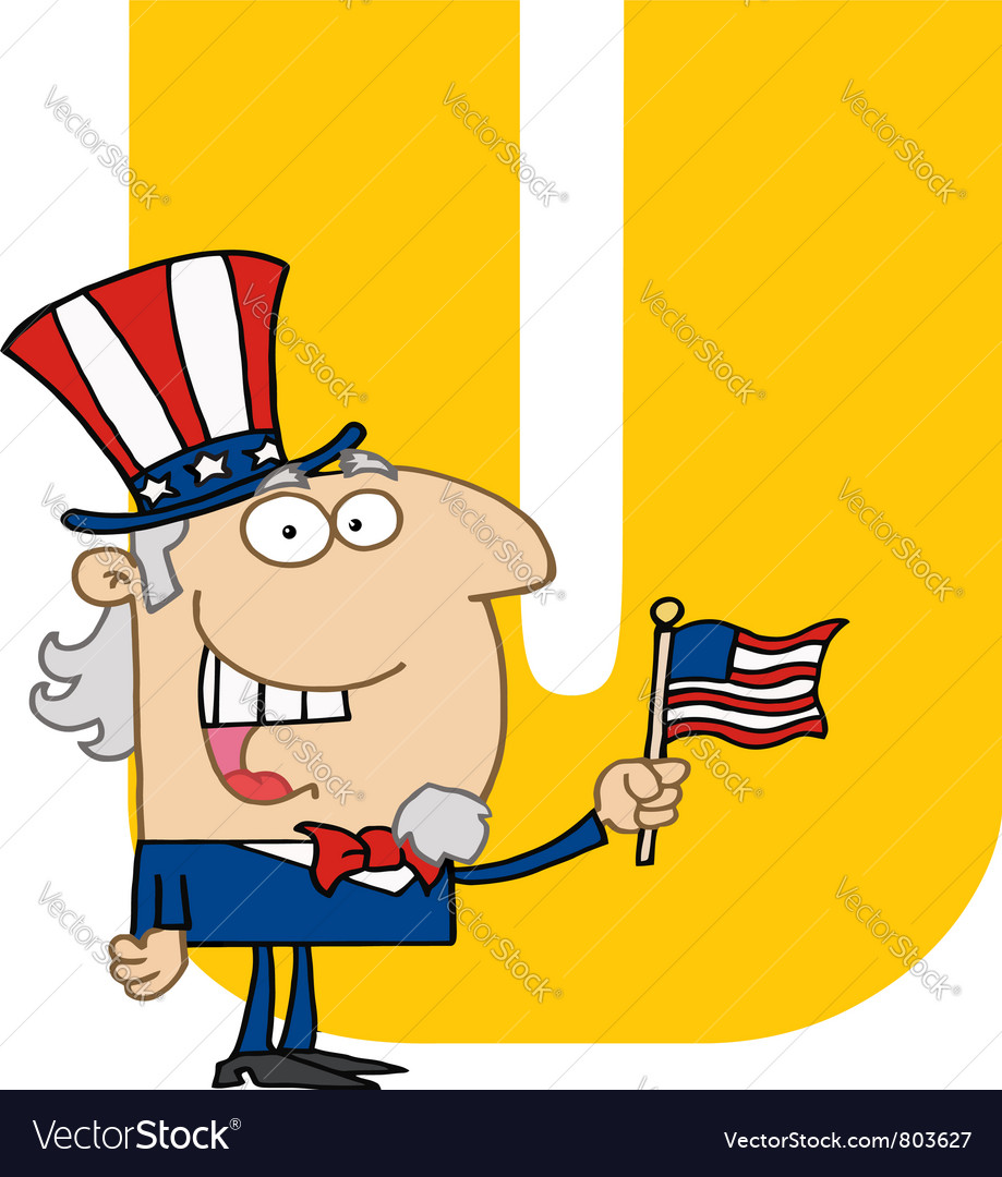 Letter u with uncle sam vector | Price: 1 Credit (USD $1)