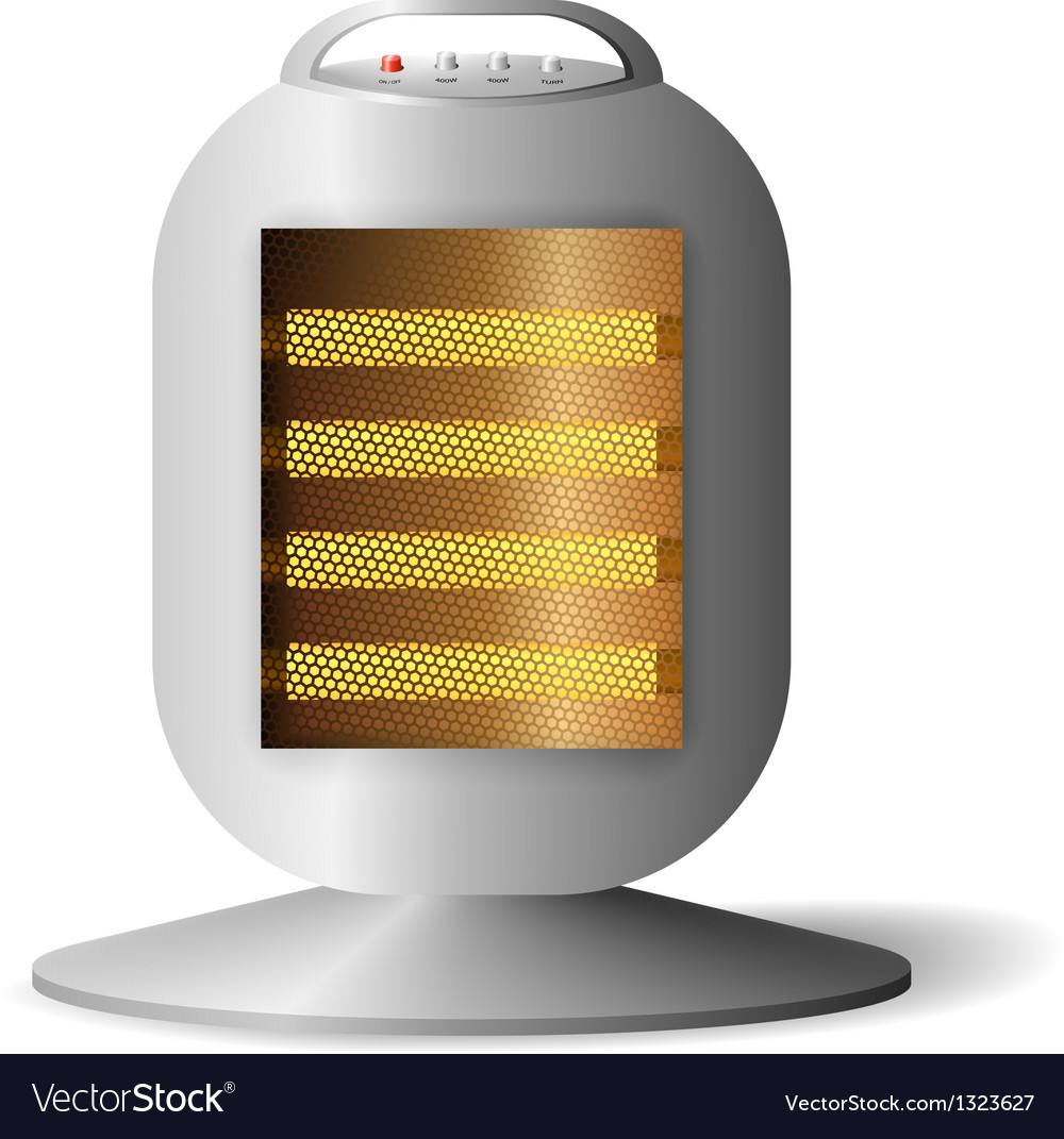 Realistic halogen radiator vector | Price: 1 Credit (USD $1)
