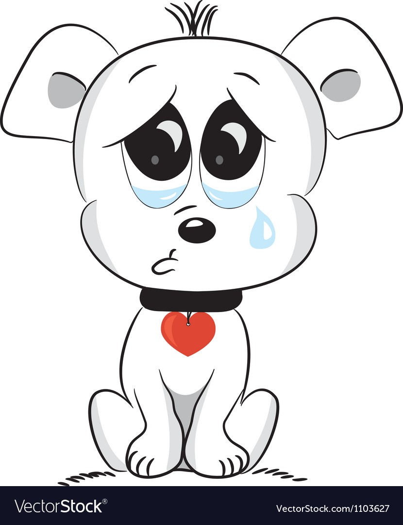 Sad dog vector | Price: 1 Credit (USD $1)