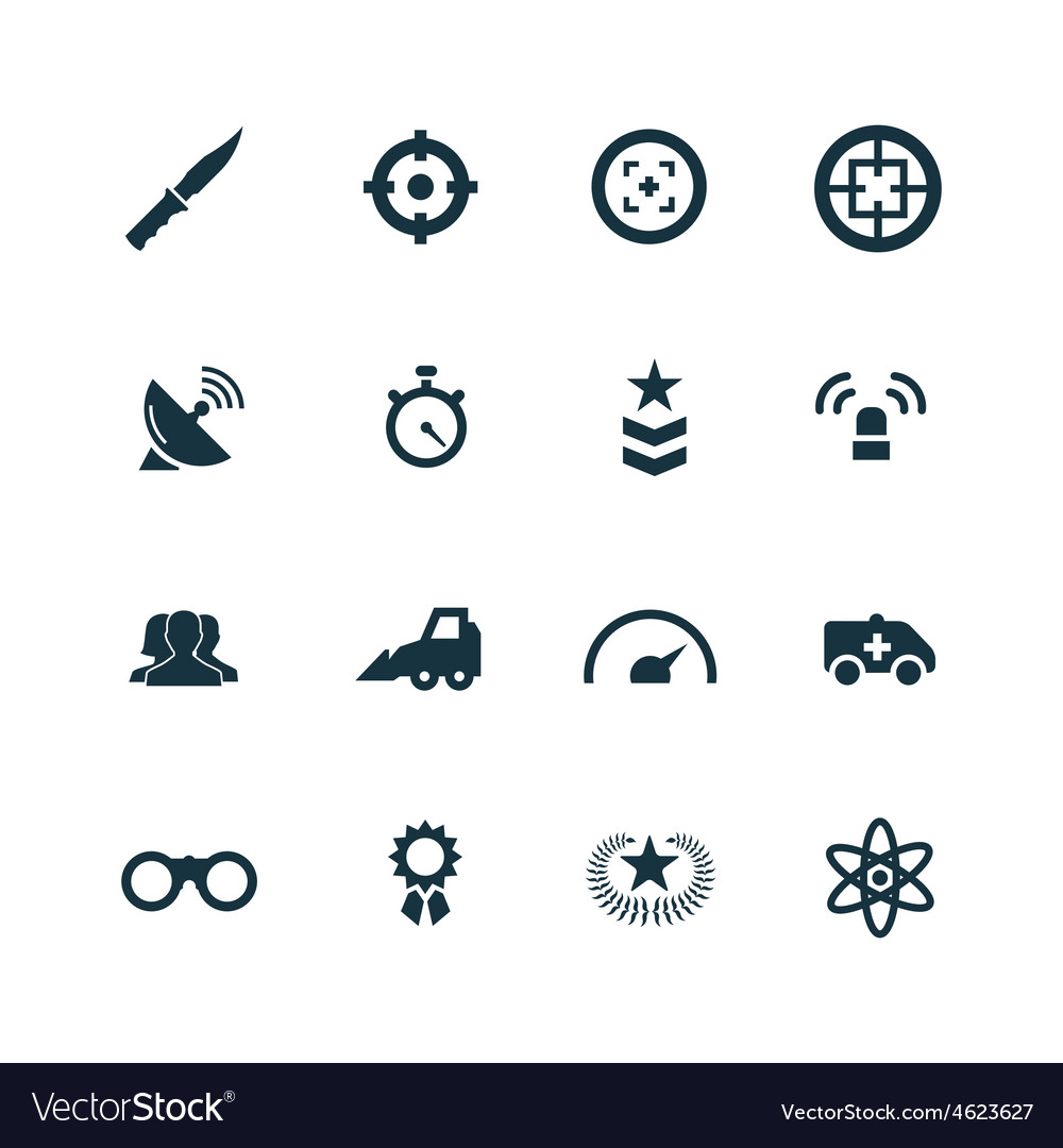 War icons set vector