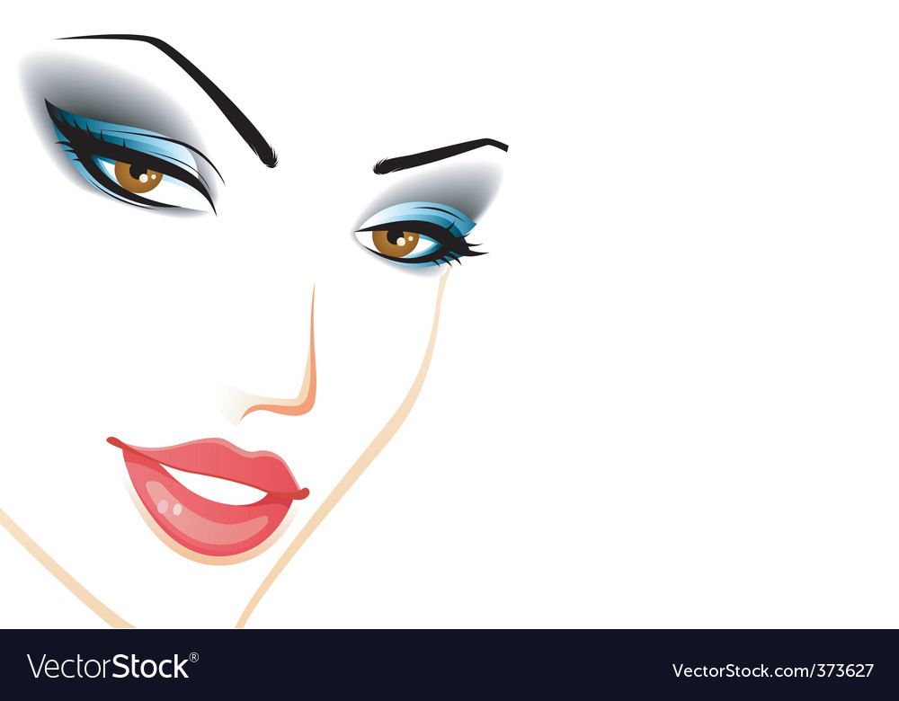 Women face vector | Price: 3 Credit (USD $3)