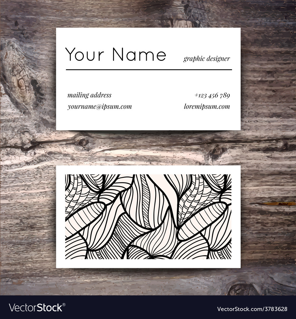 Business card template with creative white and vector | Price: 1 Credit (USD $1)