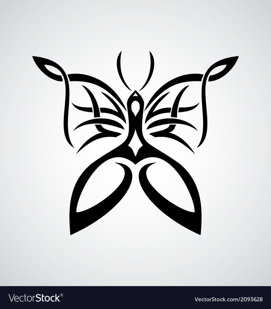 Butterfly tattoo design vector | Price: 1 Credit (USD $1)