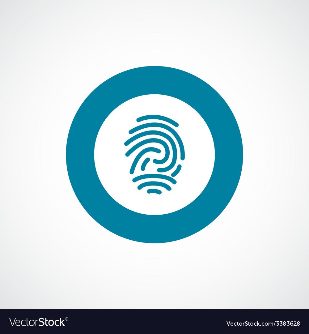 Fingerprint bold blue border circle icon vector | Price: 1 Credit (USD $1)