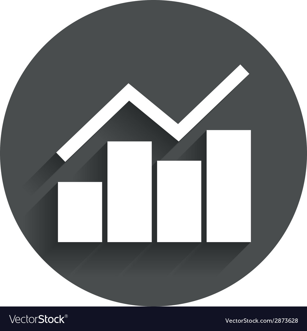 Graph chart sign icon diagram symbol vector | Price: 1 Credit (USD $1)