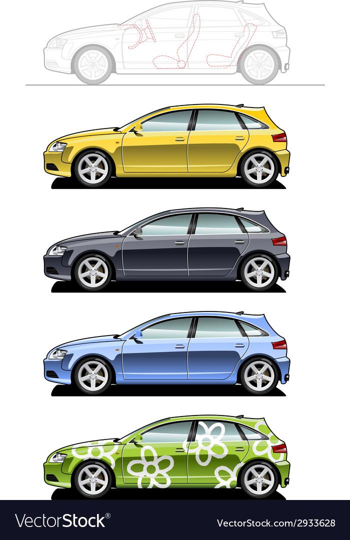 Hatchback vector | Price: 1 Credit (USD $1)