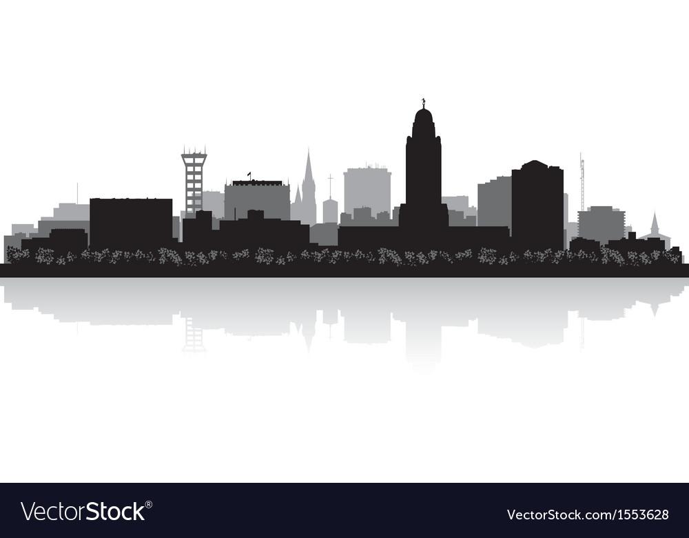 Lincoln nebraska city skyline silhouette vector | Price: 1 Credit (USD $1)