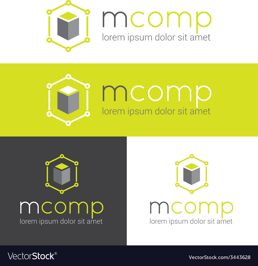 Modern logo for web studio or finance company vector | Price: 1 Credit (USD $1)