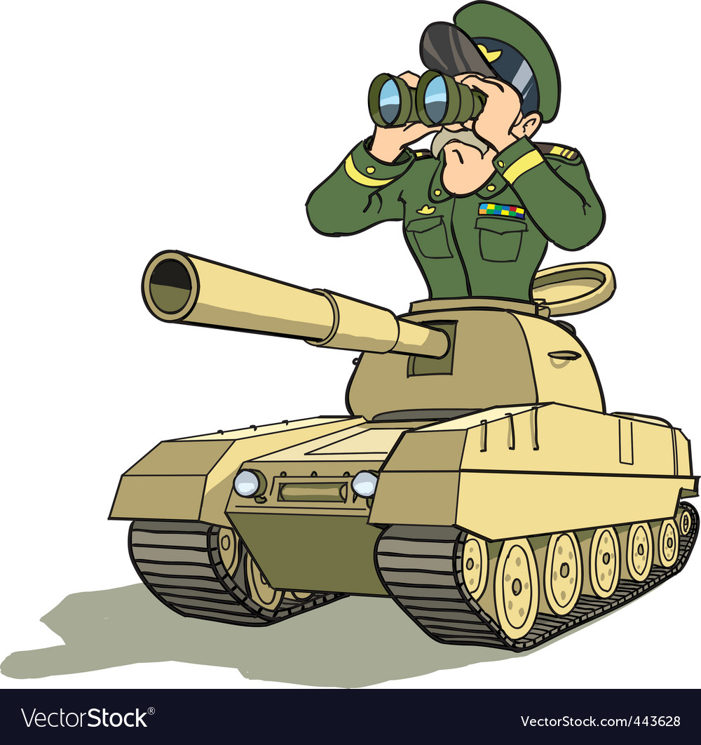 Tank battle general vector | Price: 3 Credit (USD $3)