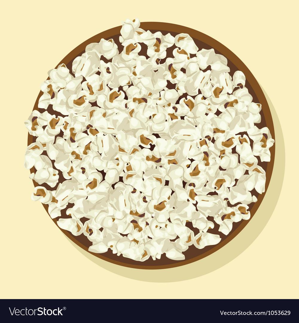 Bowl of popcorn vector   Price: 1 Credit (USD $1)