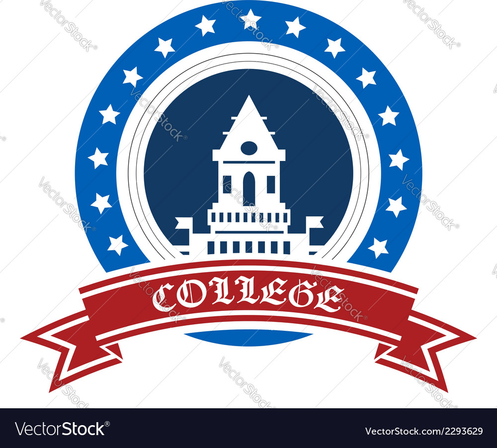College emblem vector | Price: 1 Credit (USD $1)