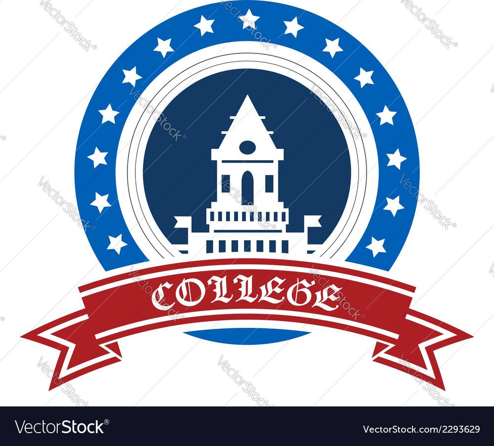 College emblem vector | Price: 1 Credit (USD $1)