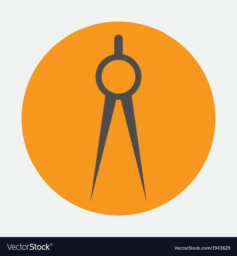 Compasses icon vector | Price: 1 Credit (USD $1)