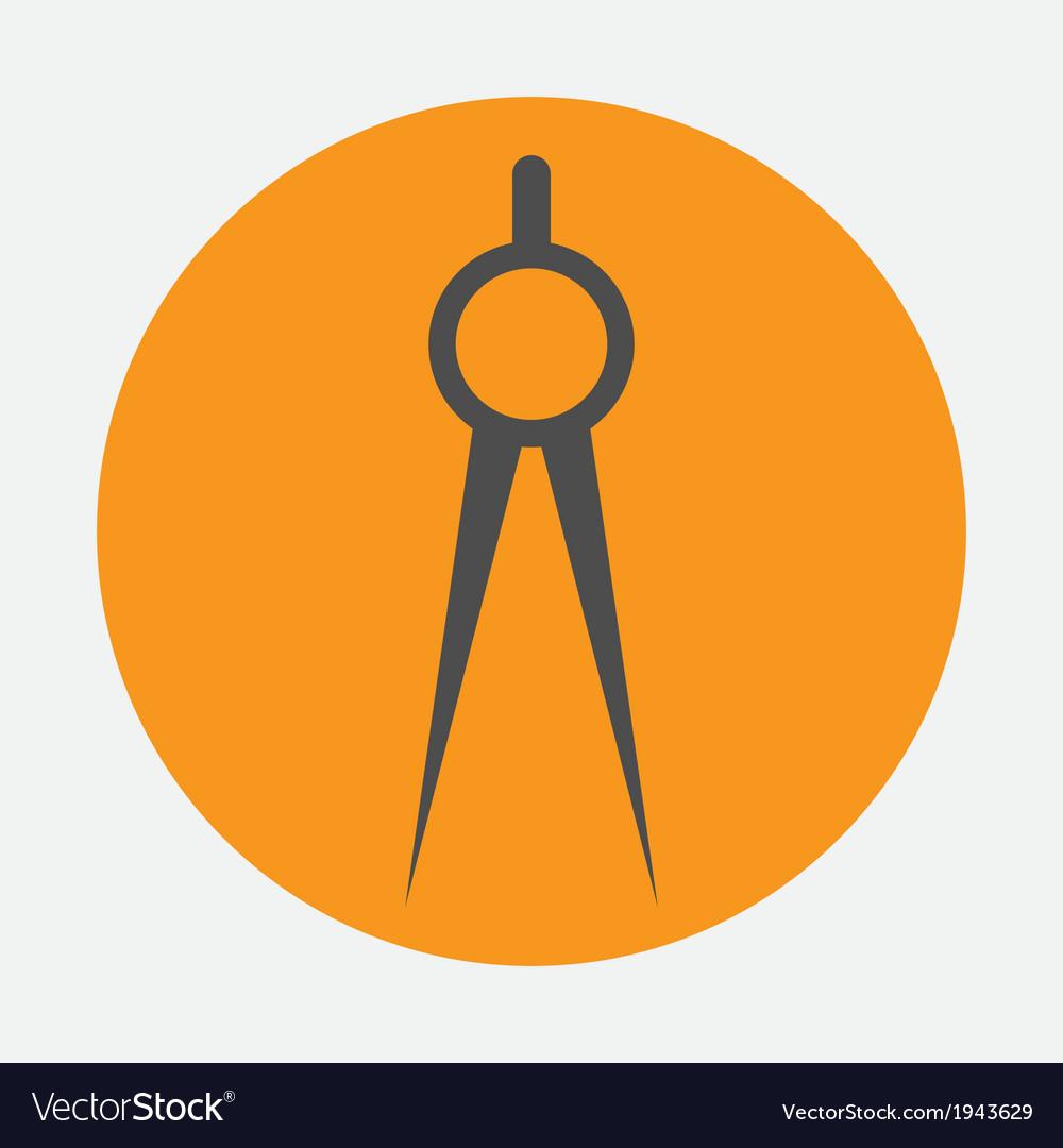 Compasses icon vector | Price: 1 Credit (USD $1)