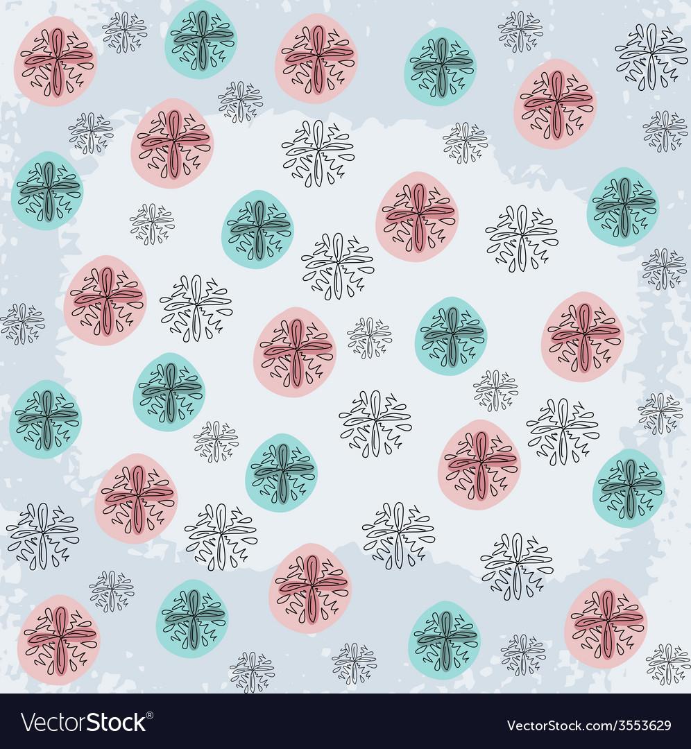 Doodled snowflakes original hand-drawn vector | Price: 1 Credit (USD $1)