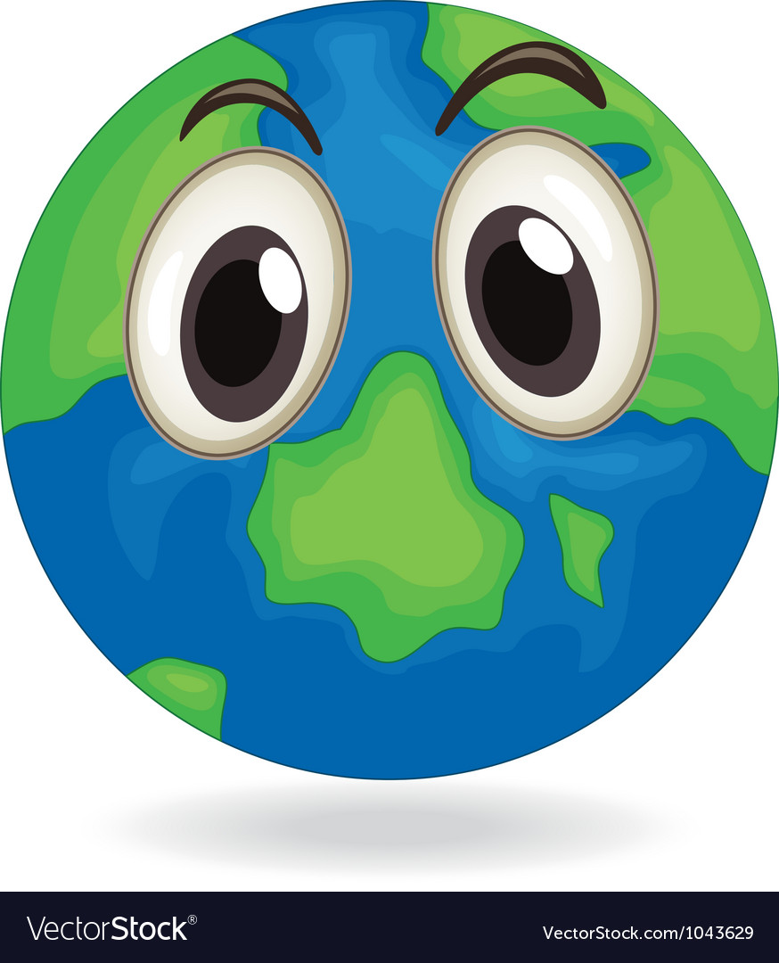 Earth globe face vector | Price: 1 Credit (USD $1)