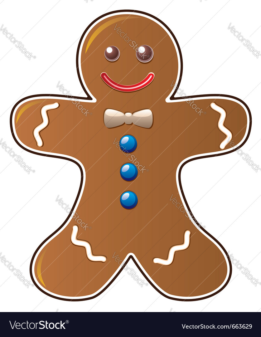 Gingerbread cookie vector | Price: 1 Credit (USD $1)