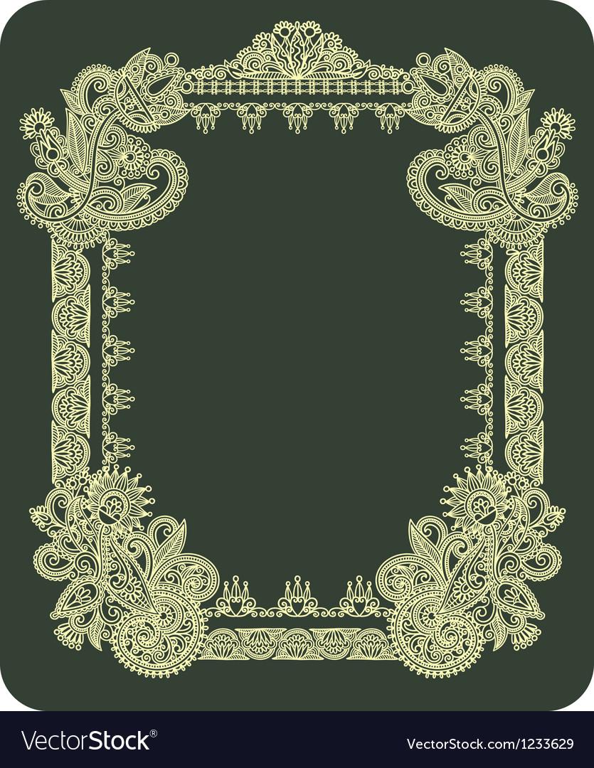 Hand draw ornate vintage frame vector | Price: 1 Credit (USD $1)