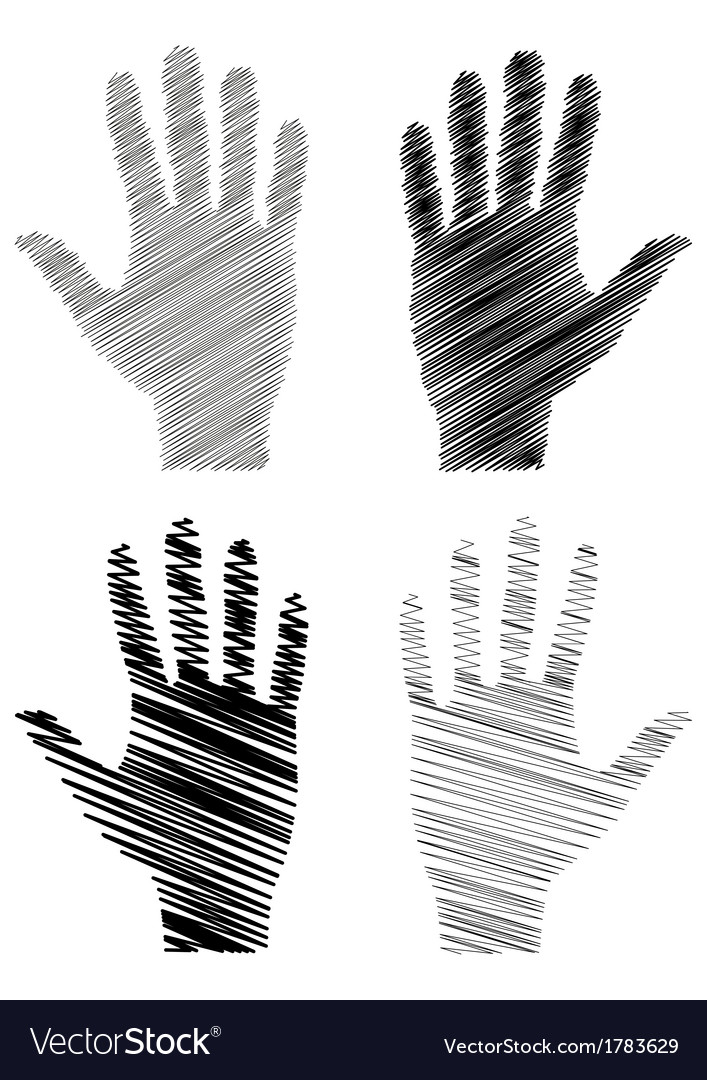 Handprint vector | Price: 1 Credit (USD $1)