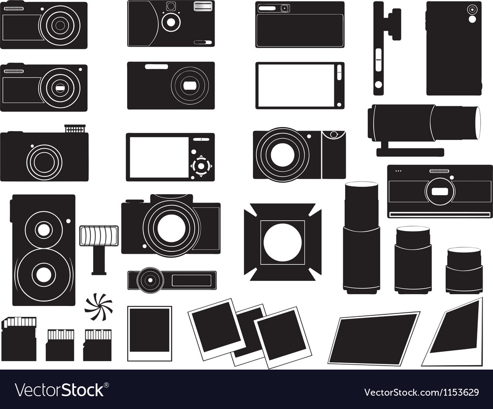 Photo cameras and stuff for photography vector | Price: 1 Credit (USD $1)