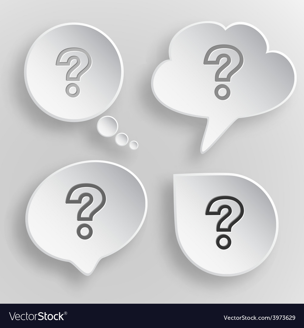 Query white flat buttons on gray background vector | Price: 1 Credit (USD $1)
