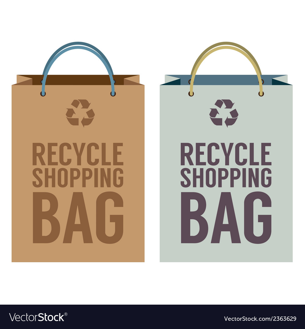Recycle paper bag vector | Price: 1 Credit (USD $1)