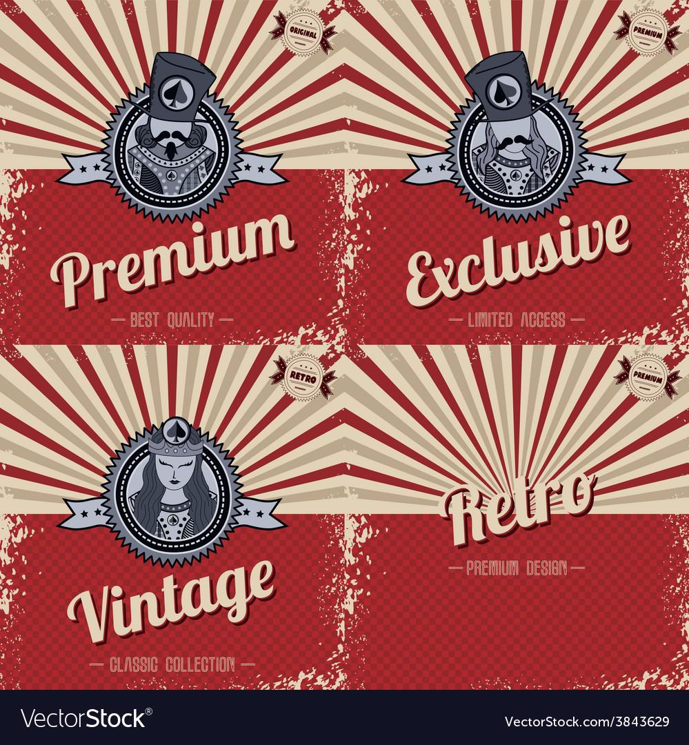 Retro page theme template vector | Price: 1 Credit (USD $1)