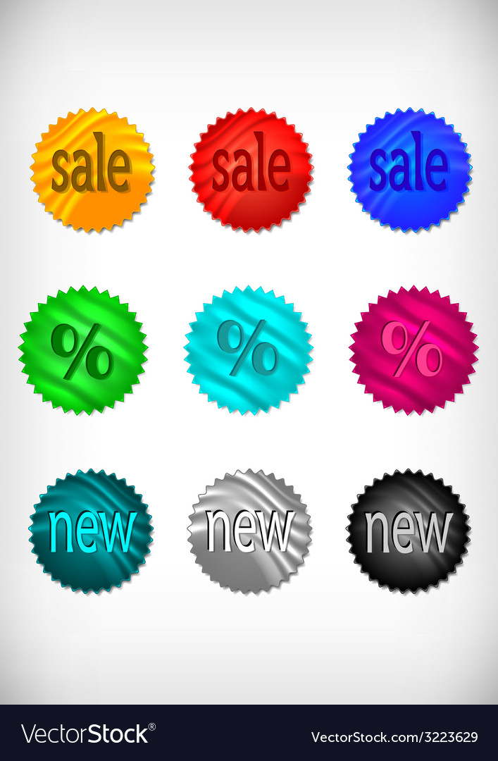 Sale sticker collection vector | Price: 1 Credit (USD $1)