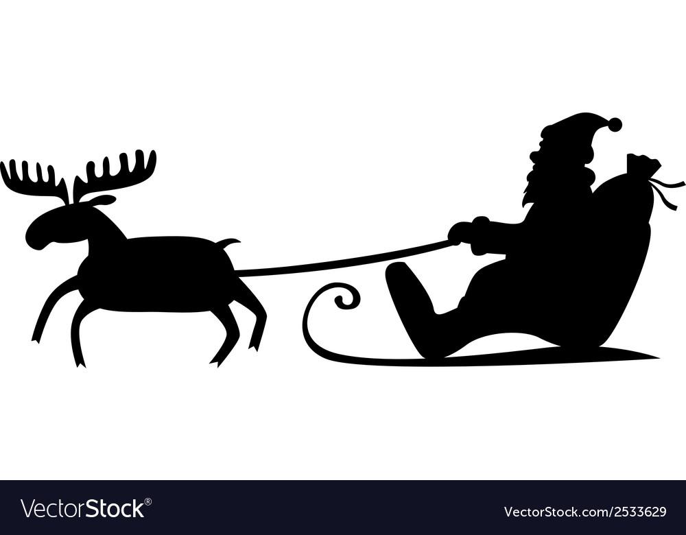 Santa sleig vector | Price: 1 Credit (USD $1)