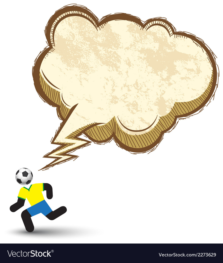 Soccer icons character with speech bubble vector | Price: 1 Credit (USD $1)
