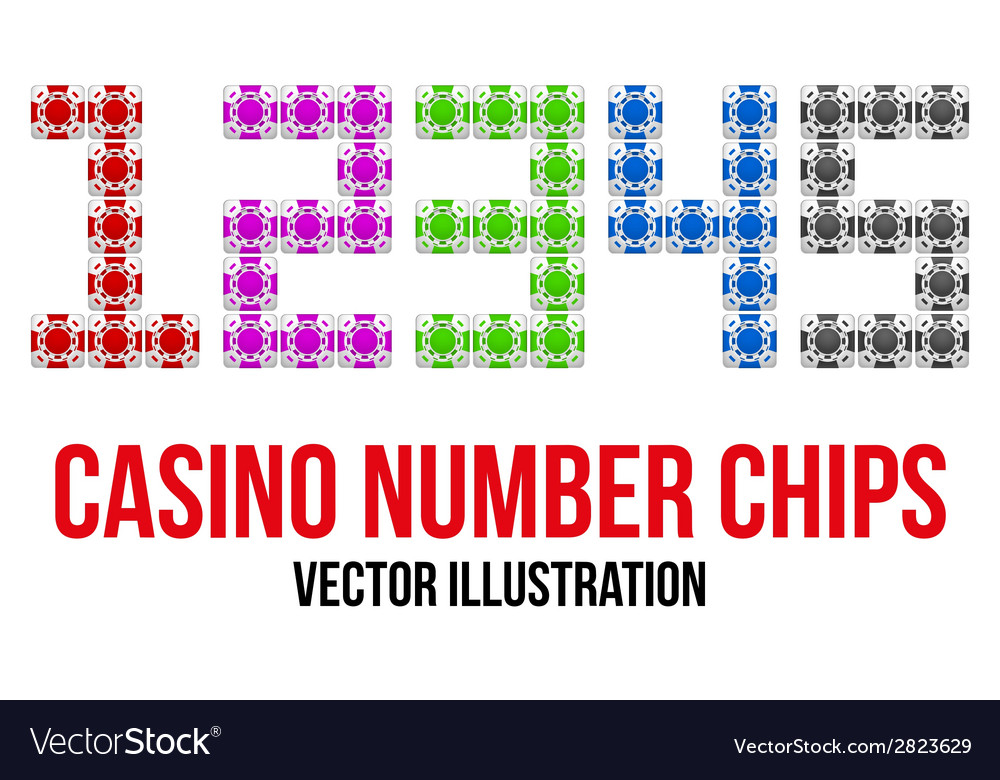 Square casino chip icons in the form of numbers vector | Price: 1 Credit (USD $1)