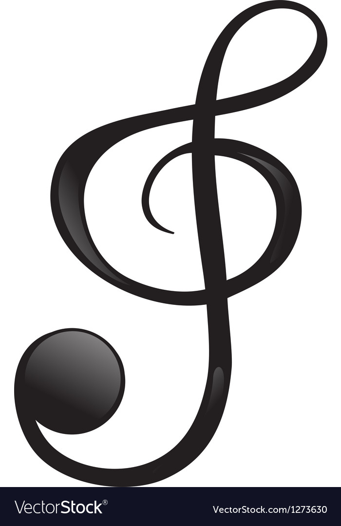A g-clef vector | Price: 1 Credit (USD $1)