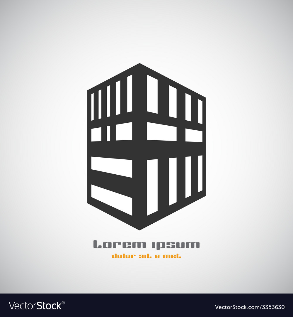 Abstract architecture building silhouette logo vector | Price: 1 Credit (USD $1)