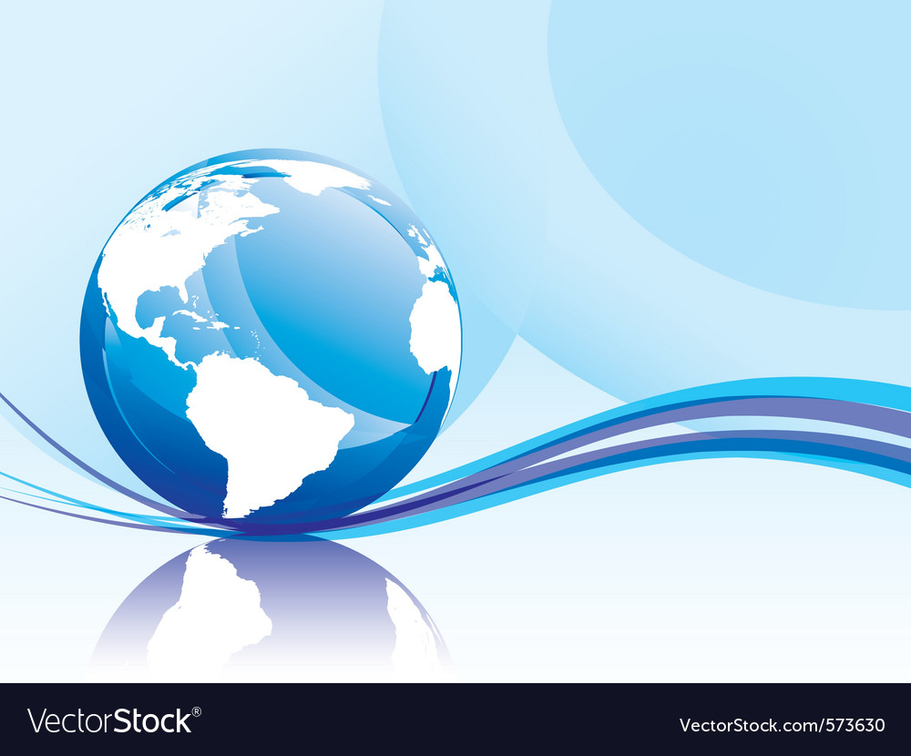 Background with globe vector | Price: 1 Credit (USD $1)