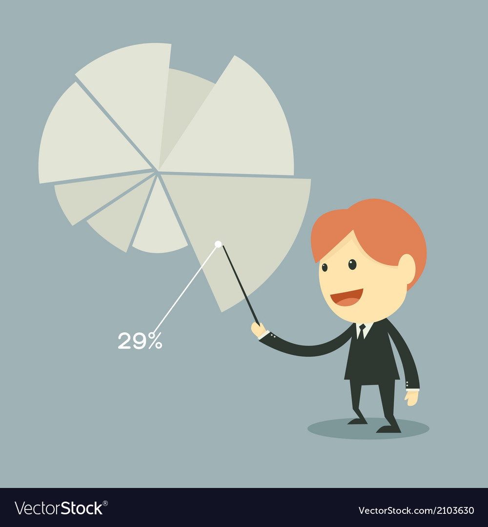 Businessman points to chart of profit vector   Price: 1 Credit (USD $1)