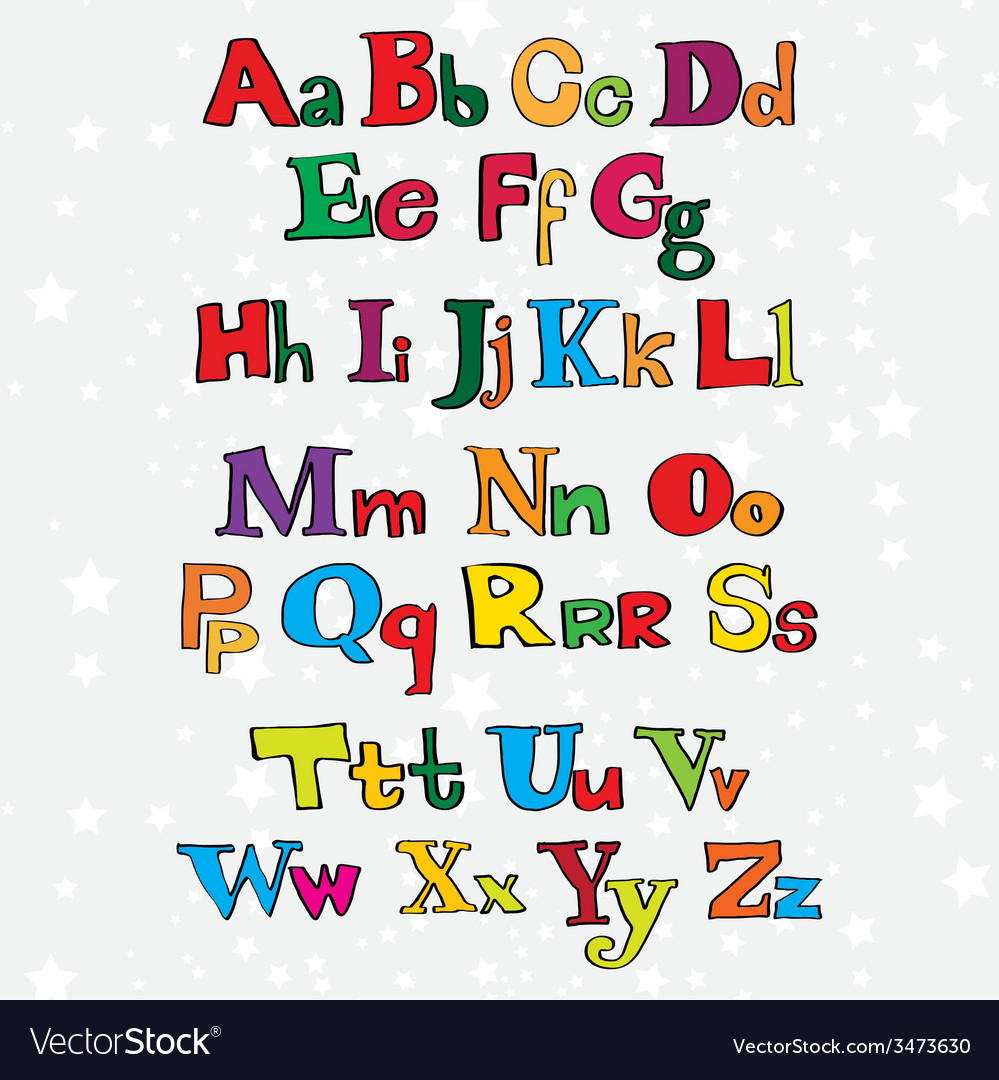 Christmas cartoon alphabet vector | Price: 1 Credit (USD $1)