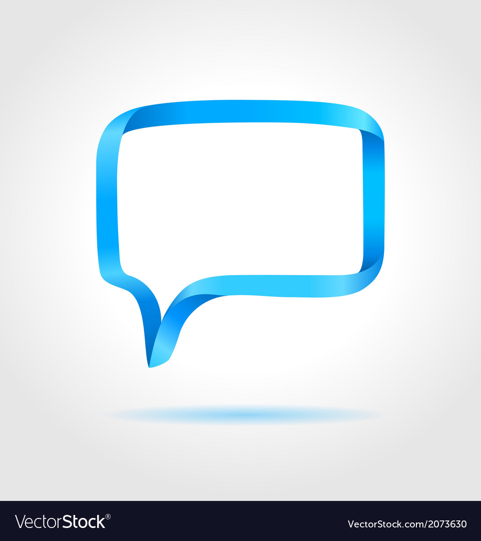 Rectangle blue speech bubble vector | Price: 1 Credit (USD $1)